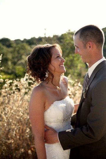 Tousled Bridal hair