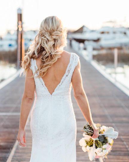 Blonde bridal hair