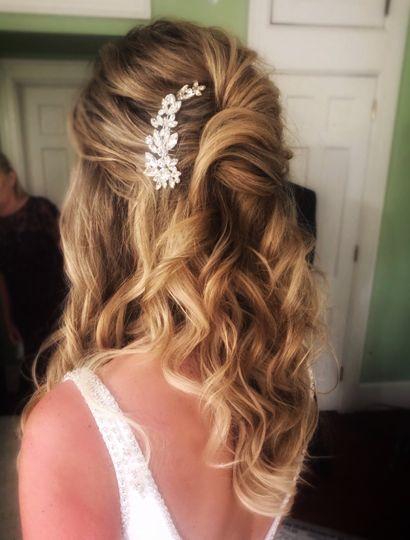 Half up Bridal Style