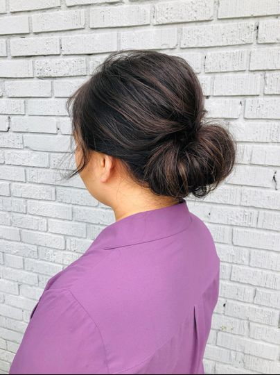 Soft textured chignon