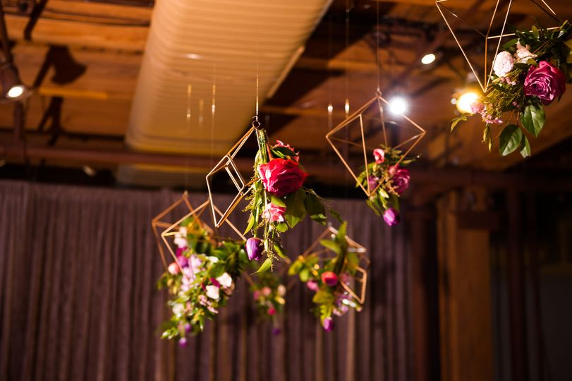 Hanging florals for romantic w