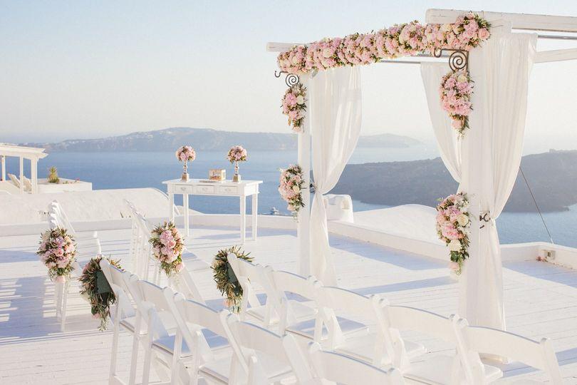 Greece Wedding Set-up