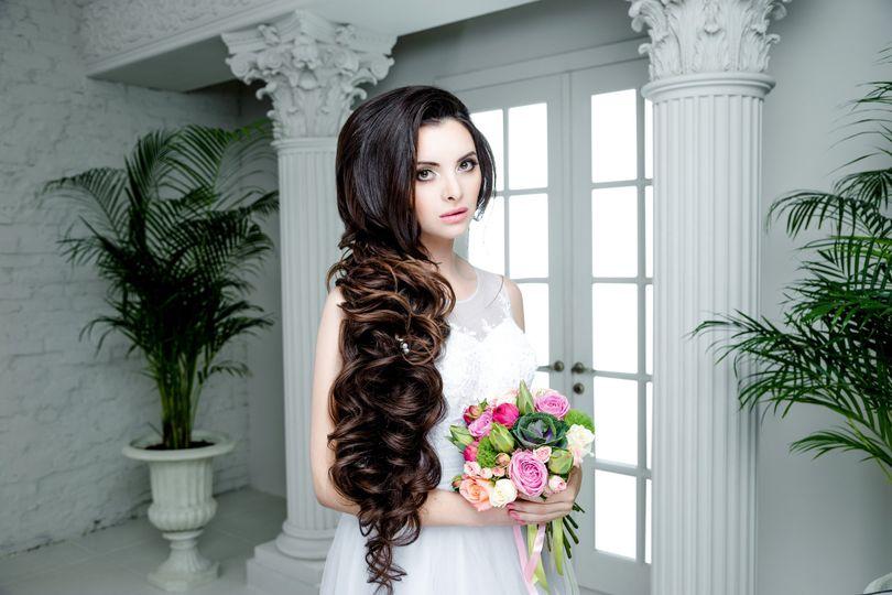 Long dark curls