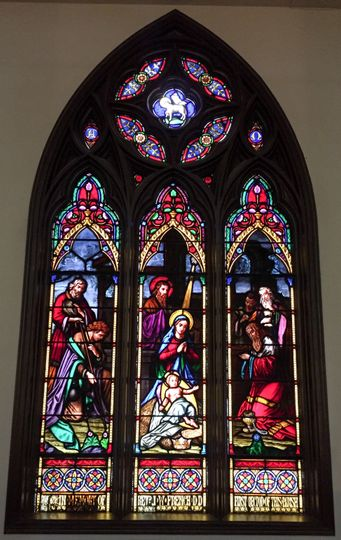 A stunning stained-glass window