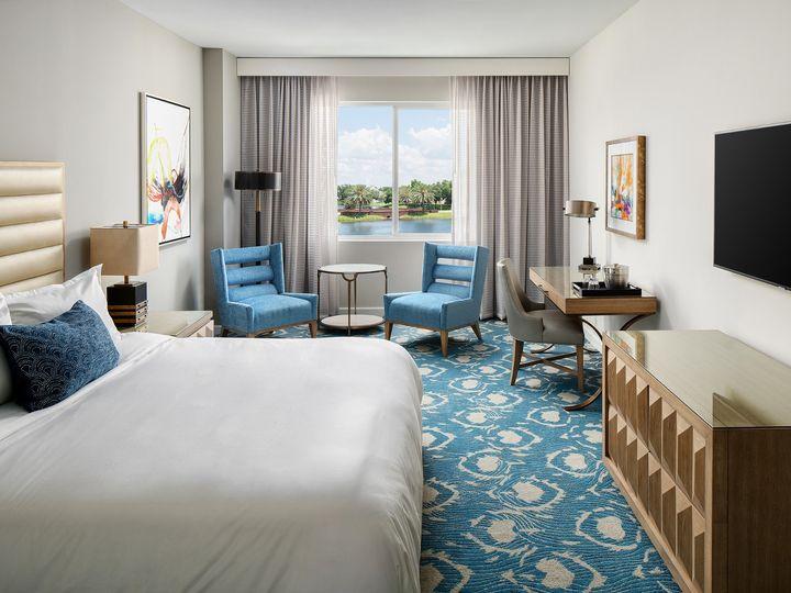 Tmx Karol Hotel Model Room One Point Black Tv 51 1884919 1568744320 Clearwater, FL wedding venue