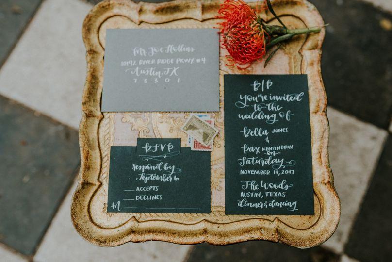 A sample of stylish invitations