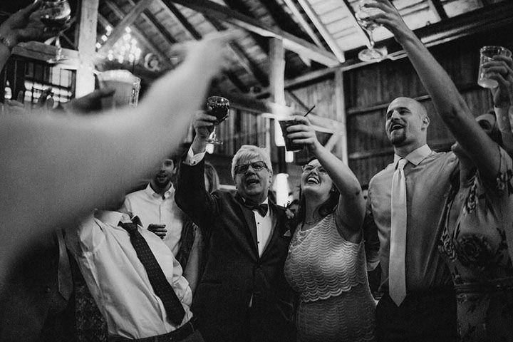 Monochrome toast to marriage - Bobbi Phelps Photography