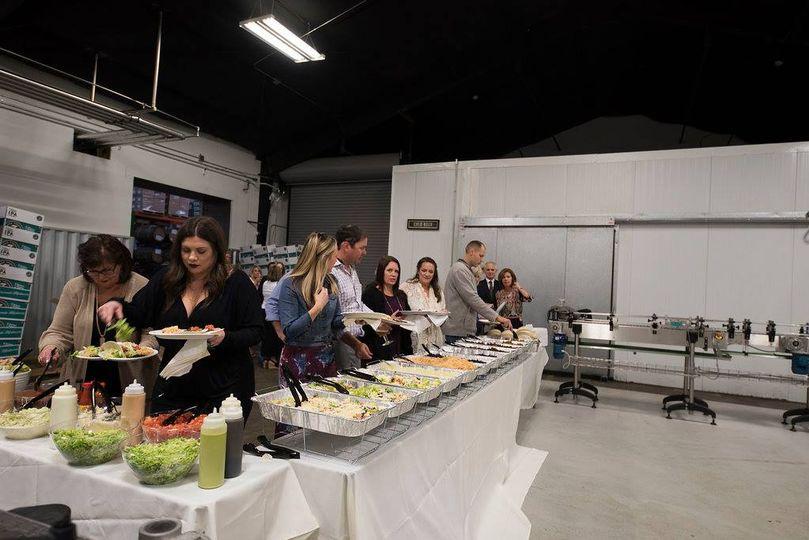 The barrel room - food set up