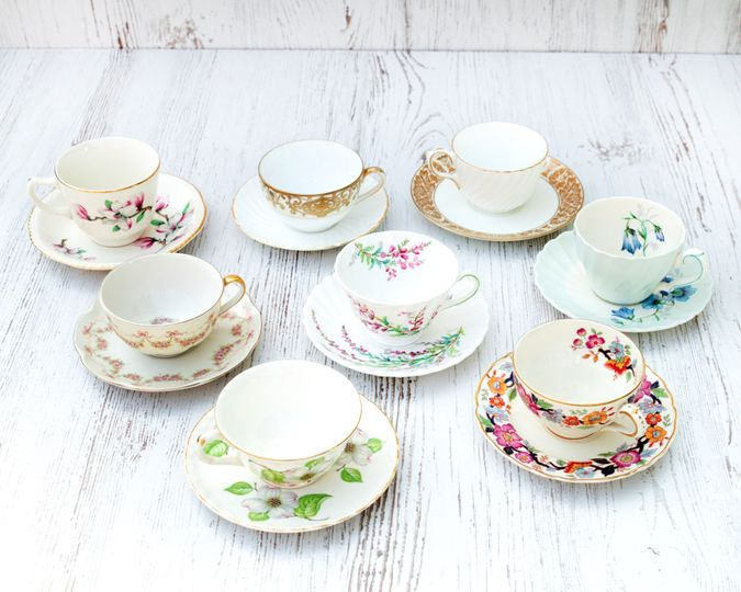 Vintage Tea Cup and Saucers