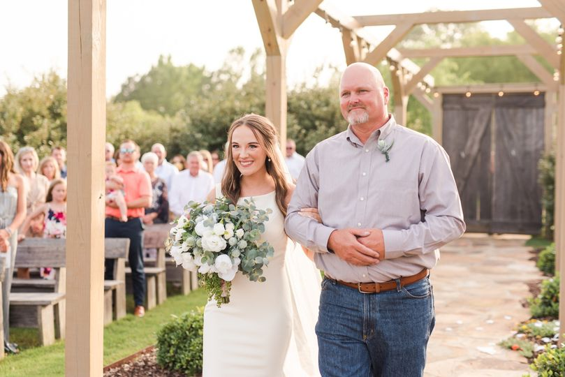 Ceremony entrance and first look - Dee Ward Photography