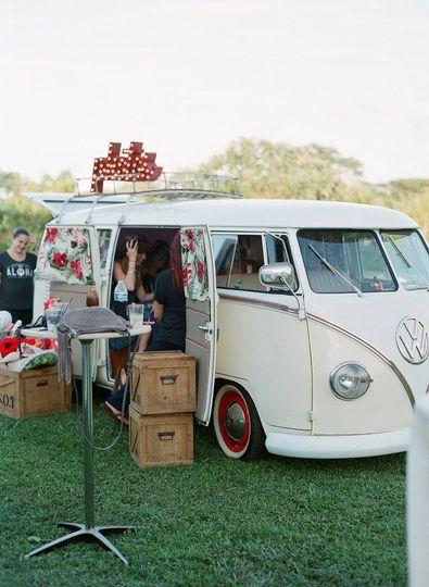 Minivan photo booth