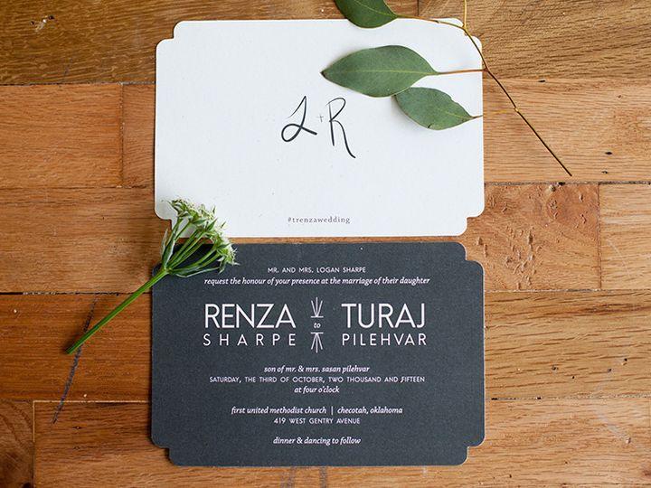 Tmx 1444759186865 Renza2 Tulsa wedding invitation