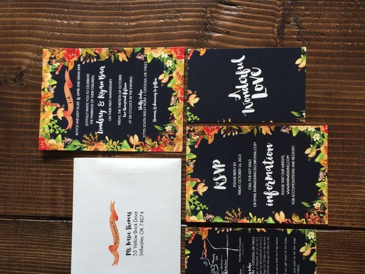 Tmx 1444759260915 Img1510 Tulsa wedding invitation