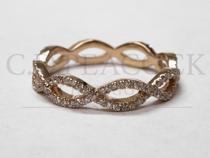 Tmx 1479336912274 Rose Gold Twisty Band Copy Oak Brook wedding jewelry
