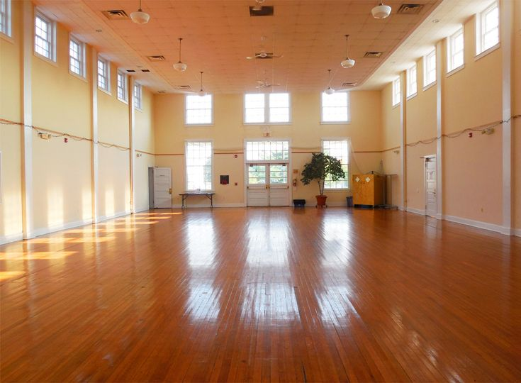Historic Old Waldorf School Auditorium | Looking from the stage toward the main entry doors