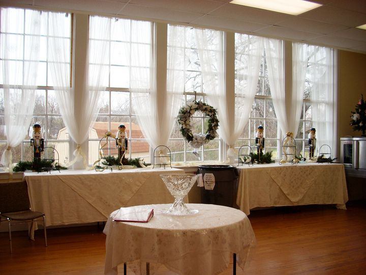 Historic Old Waldorf School | Lounge/Kitchen set up for a Christmas/Winter event