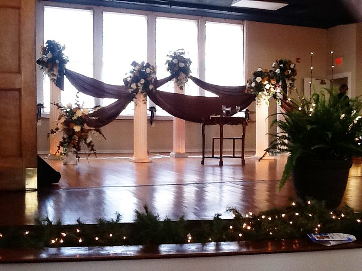Historic Old Waldorf School | Stage set up for a wedding ceremony