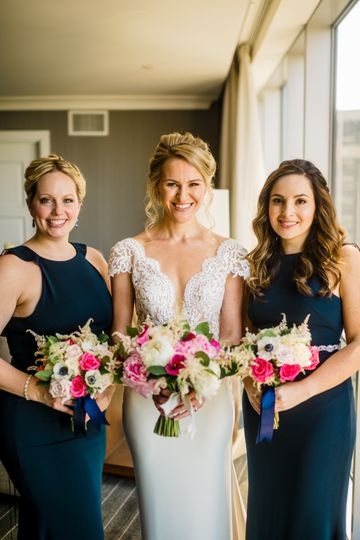 Pretty pink and navy wedding