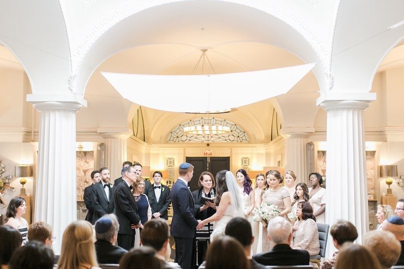 Suspended chuppah at the Hotel