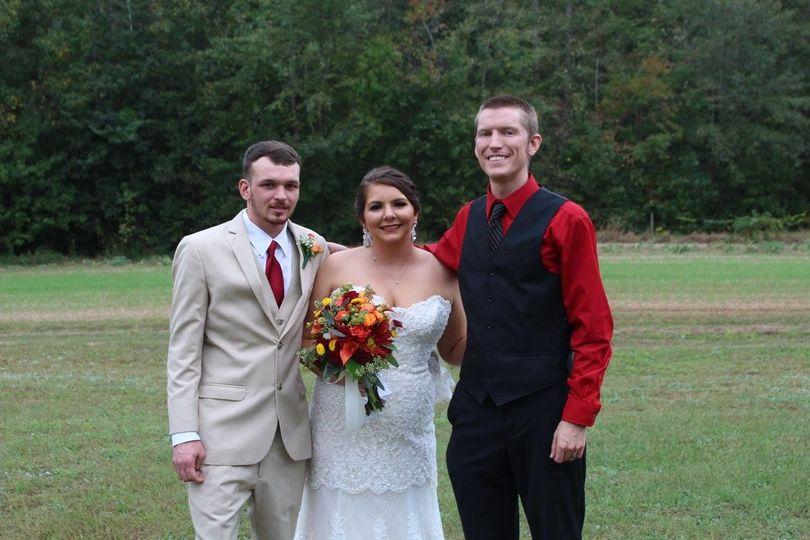 DJ Sonus with the newlyweds.
