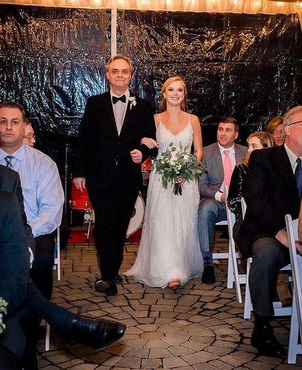 December wedding under the tent