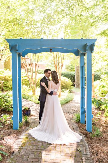 The Blue Arbor--one of the favorite photo ops By Meredith Ryncarz Photography