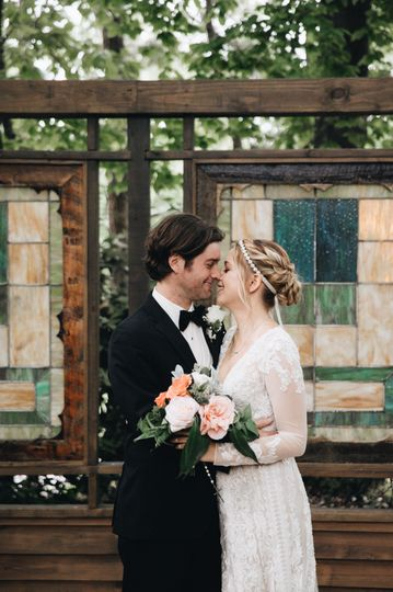 Our vintage stained glass windows--another great photo op.  Photo By: M. Fehr Photography