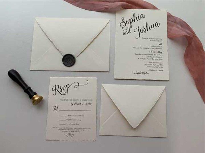Tmx Deckle Edge Suite 51 1002029 159346213331974 Carlsbad wedding invitation