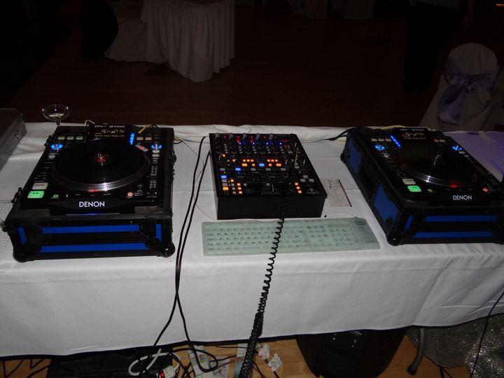 The DJ controls