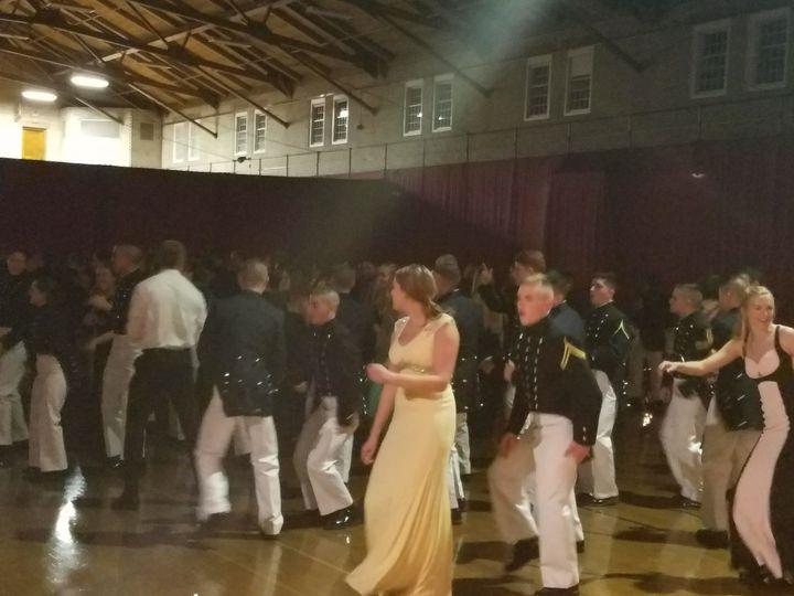 Dance floor in a court