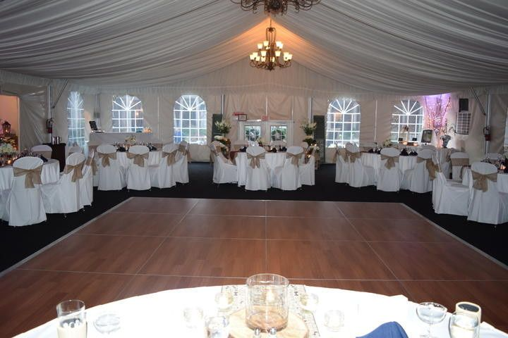 Wedding Reception in the Garden Pavilion at DoubleTree Suites by Hilton Charlotte SouthPark