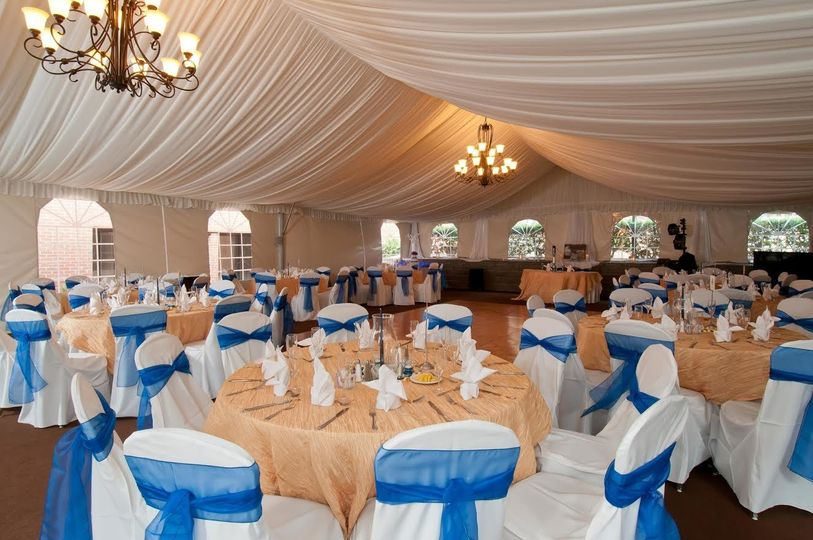 Wedding Reception in Garden Pavilion at DoubleTree Suites by Hilton Charlotte SouthPark