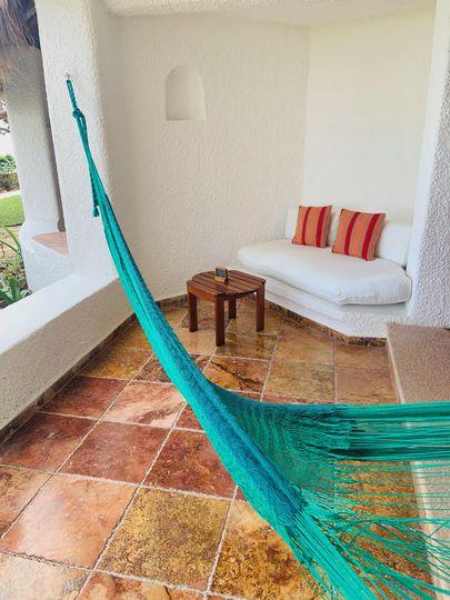 Private balcony in Cancun