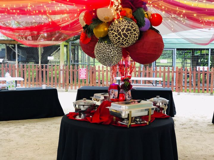 Wedding event space and decor