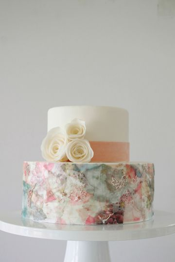romantic collage cake