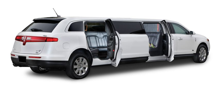 8-passenger Lincoln MKT features an additional rear door on the passenger side.