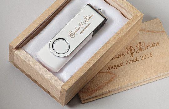 Tmx 1458925426777 Wood Wedding Box White Swivel Flash Drive San Francisco wedding favor