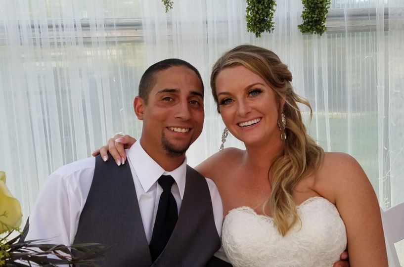Newlyweds happily married