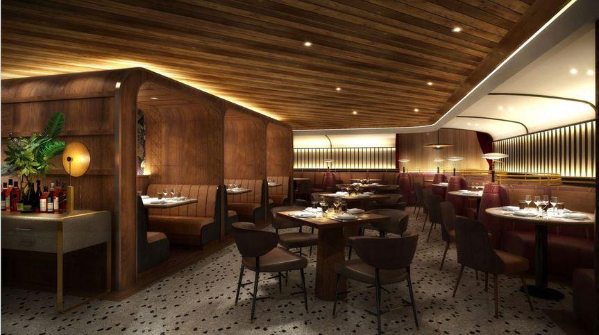 Refined restaurant setting