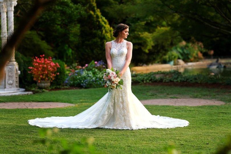 Beautiful bride in the garden