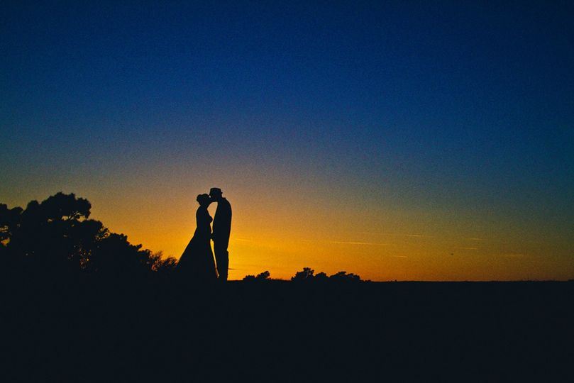 Silhouette of the couple