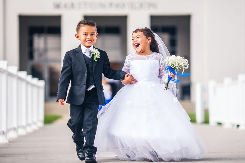 Mini bride and groom
