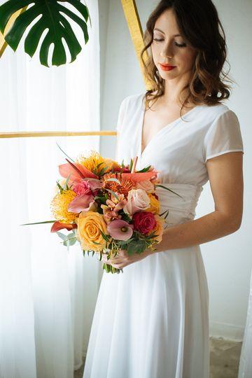 Tropical bright bouquet