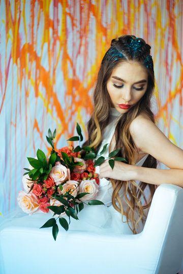 Simple rose bouquet