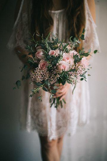 Pink handtie bouquet