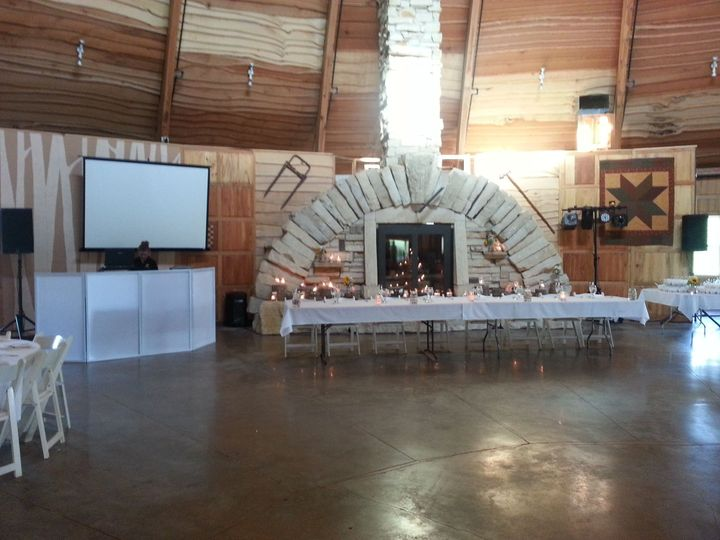 Wedding we played at in a round barn near Solon, IA
