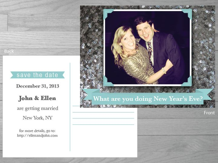 Tmx 1386126945695 Newyearsavethedate 0 York wedding invitation
