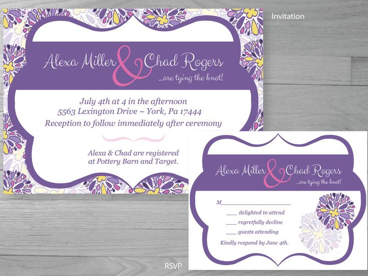 Tmx 1386126998588 Purplewedding 0 York wedding invitation