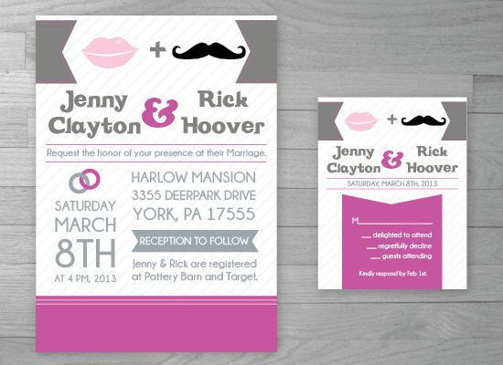 Tmx 1386127044509 Weddingmustache 0 York wedding invitation
