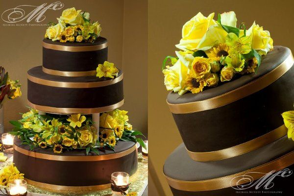 ChocolateGoldWeddingCake